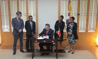 Signing Ceremony with Timor-lesteSigning Ceremony with Timor-leste