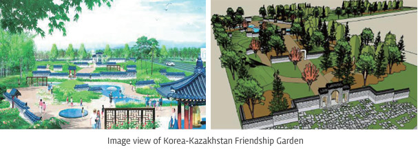 Image view of Korea-Kazakhstan Friendship Garden