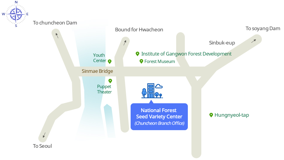 Location Map to Chuncheon Branch Office