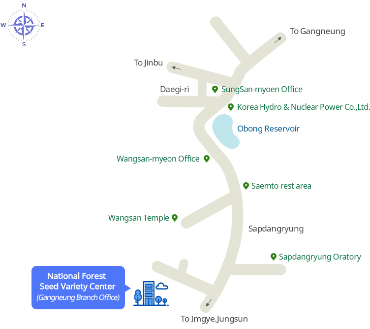 Location Map to Kangneung Branch Office